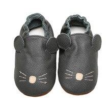 2018 Echt leer ademend zachte zool hoge kwaliteit pasgeboren baby baby schoenen