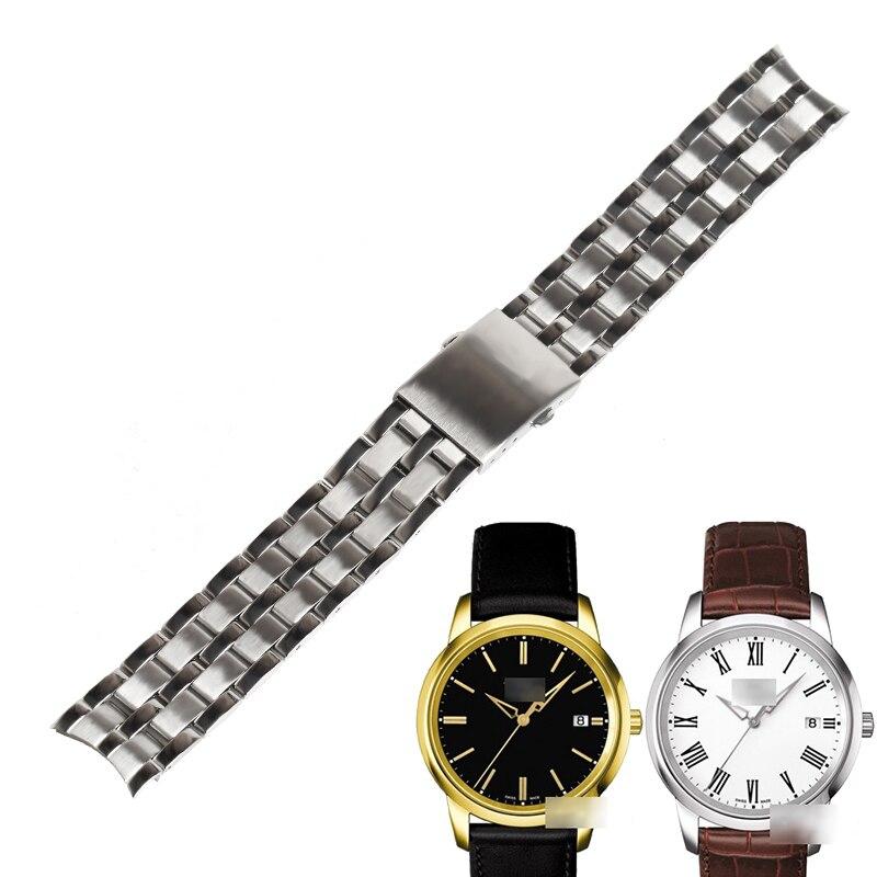 Pulseiras de Relógio para Tissot Sólida de Aço Wentula Banda Inoxidável Homem Assistir Bandas T033410a 1853 19 mm