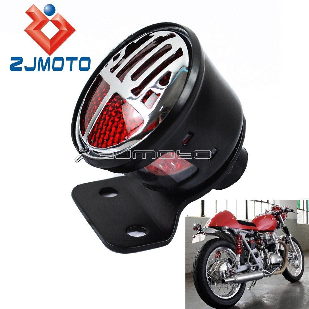 Dla Harley LED Bates Tailight na tylni motocyklowy światło Miller światło STOP na zamówienie Cafe Racer Bobber Chopper W/lampka tablicy rejestracyjnej