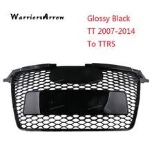 Grilles de course pour Audi TT 2007 2014 2007-2008 à TTRS   Pare-choc Central noir brillant, pour Audi TT 2009 2010 2011 2012