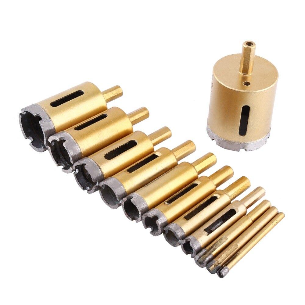 6-50mm diamante broca de sierra de taladro para Metal carpintería herramientas conjunto de baldosas de mármol de vidrio granito hormigón
