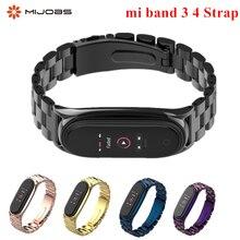 Mi Band 4 3 sangle métal acier inoxydable pour Xiaomi Mi Band 3 4 sangle Compatible Bracelet Miband 3 4 bracelets Pulseira miband4
