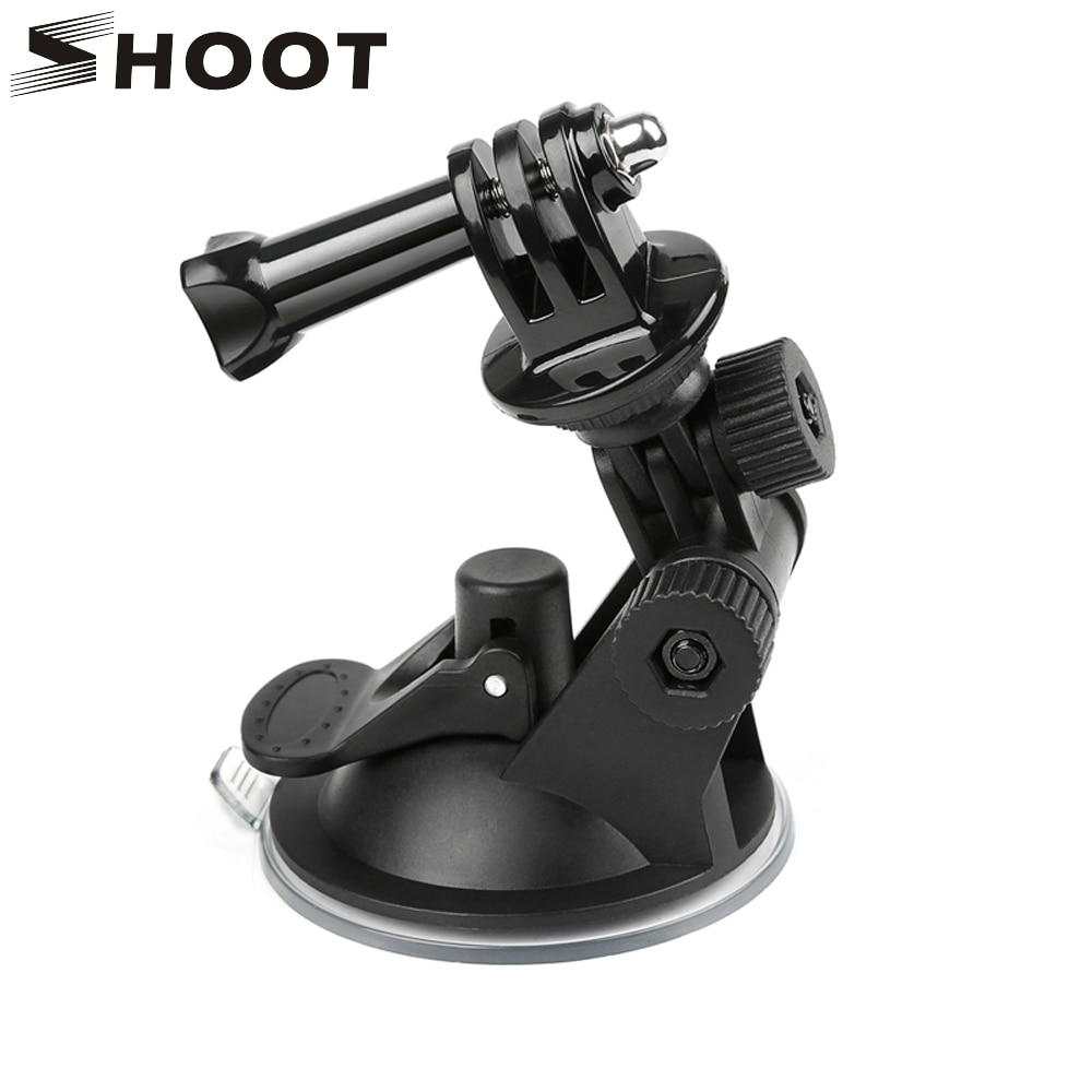 Фото - SHOOT Mini Windshield Suction Cup for GoPro Hero 9 8 7 6 5 Black Sjcam Sj4000 Xiaomi Yi 4K Eken H9 H9r Go Pro Hero 9 8 Accessory telesin монопод трансформер 3 way с ручкой поплавком для gopro xiaomi sjcam eken