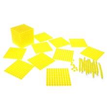 Montessori Mathematik Material Kinder 10 + 100 + 100 0 Dezimalstelle System Lernen 1-100 0 Zahlen Zählen Spiel perlen Spielzeug Set