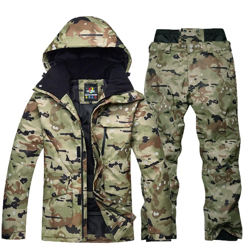 Waterproof Thermal Ski Jacket+Snowboard Pant Male Outdoor Skiing And Snowboarding Snow Ski Suit Free Freight Winter Ski Suit Men