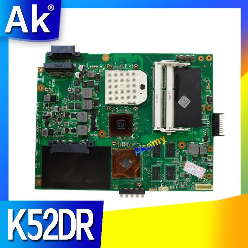 Placa base para ordenador portátil K52DR para ASUS K52DR A52DE K52DE A52DR K52D K52, placa base original probada, tarjeta de vídeo AMD 1G