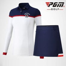 PGM Vrouwen Golf Kleding Set Dames Ademend Confort Rokken Set Lange Mouwen Sportkleding Golf/Tennis Kleding Suits D0500