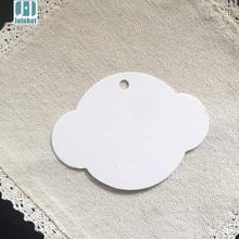 Étiquettes en papier Kraft blanc UFO   100 pièces, 8.5x6.3cm, carte-cadeau poinçon, cadeau pour fête mariage