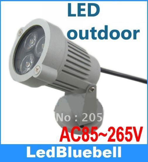 IP65 300LM 3W Warm & White 3*1W LED Spot Light Garden Lawn Lamp AC 85V-265V