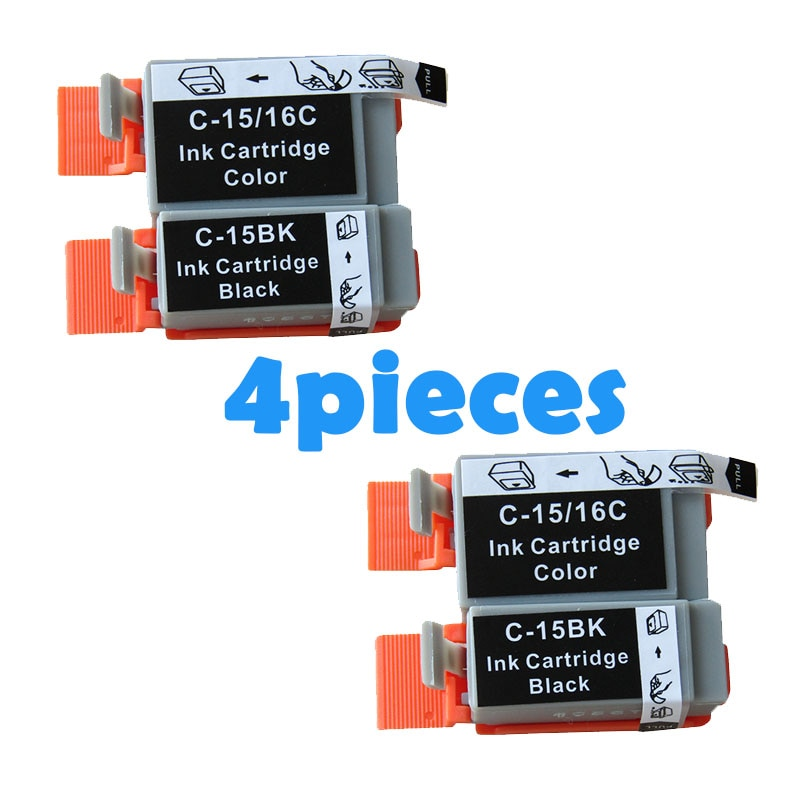 4 Uds cartucho de tinta Compatible BCI15 BCI16 BCI-15 BCI-16 BCI15 16 para Canon i70 i80 SELPHY DS700 DS810 PIXMA iP90 mini220 impresora
