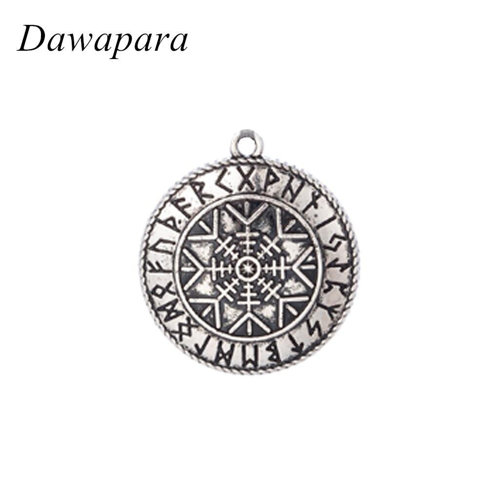 Colgantes antiguos de plata con diseño de Helm Of Awe de dawaara para hacer joyería, accesorios y collares Vintage para mujer