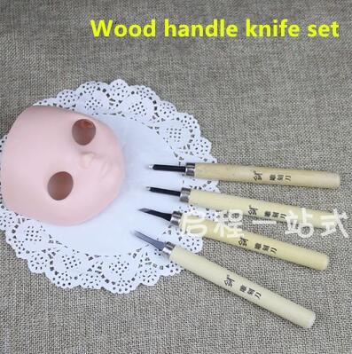 BJD doll blyth change tools change makeup wood handle knife set doll accessories bjd carve mouse engraved open eyes Tools DIY