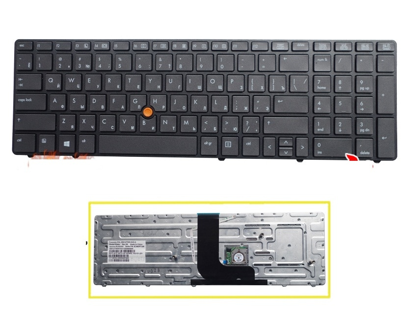 SSEA Новая русская клавиатура для ноутбука HP Probook 8560W 8570W RU Клавиатура