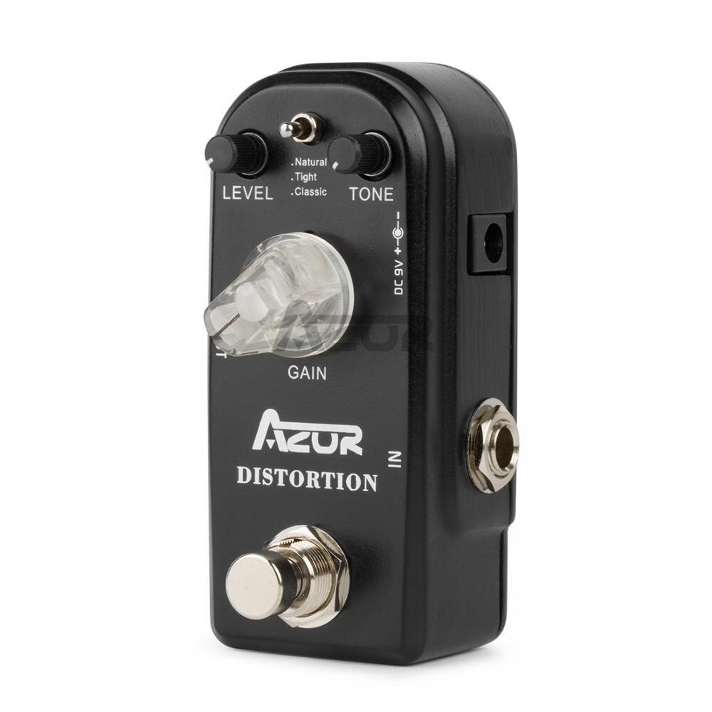 Azor AP-302 distorção mini efeito de guitarra pedal distorção pedal efeitos de guitarra 3 modos azor mini pedal peças acessórios