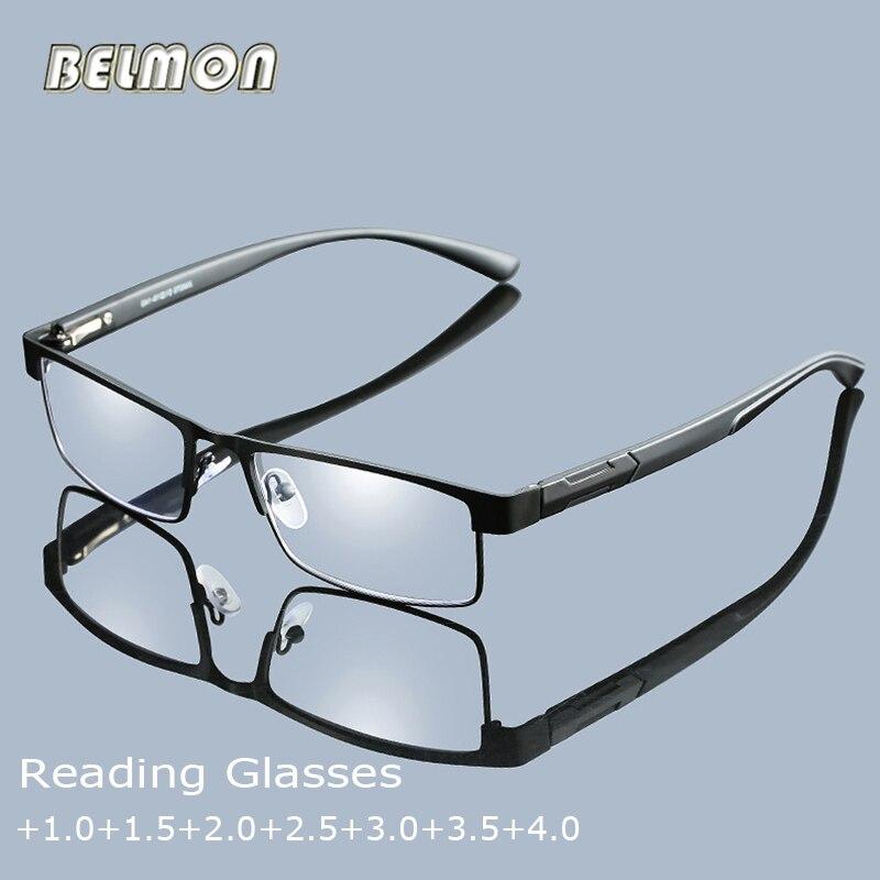 Gafas de lectura Belmon para hombre, gafas presbicia con dioptrías, gafas de grado para hombre, 1,0 + 1,5 + 2,0 + 2,5 + 3,0 + 3,5 + 4,0 RS775