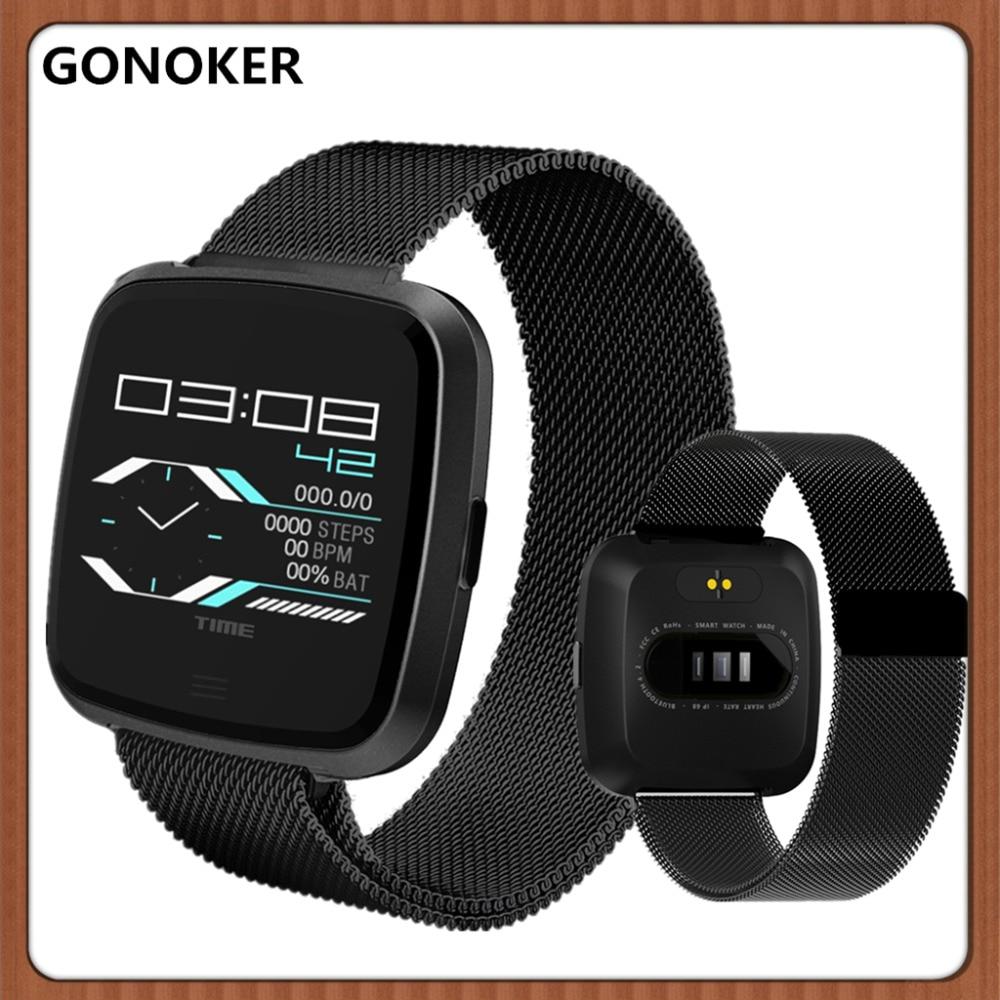 Reloj de pulsera inteligente deportivo reloj inteligente rastreador de Fitness podómetro Monitor de sueño llamada/recordatorio de mensaje rastreador de Fitness para hombres y mujeres