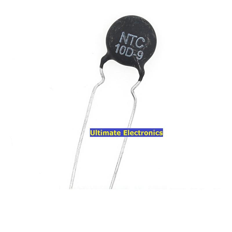 100 Uds termistor NTC10D-9 10D-9 10D9 9MM de diámetro de coeficiente de temperatura negativo