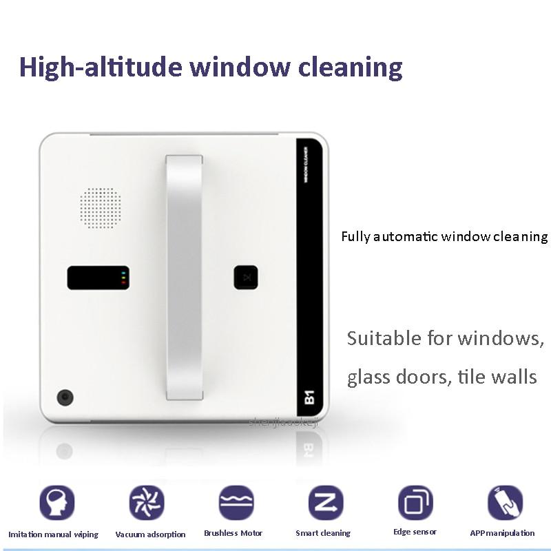 نافذة مكنسة كهربائية نافذة ذكية روبوت لأغراض التنظيف التحكم عن بعد عالية شفط مكافحة السقوط غسالة روبوت مكنسة 220 فولت 75 واط