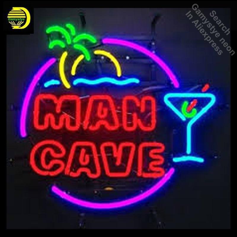 Papel pintado de cueva para hombre Uk, las mejores Ideas, letrero de neón comercial, Bombilla de neón, tubo de vidrio real, barra de cerveza, señal de pub, Dropshipping artesanal 24X24