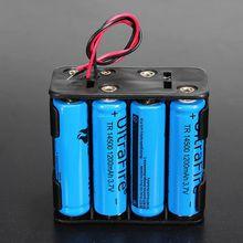 1PC Battery Holder Case 12 Volt 12V Battery Clip Slot Storage Holder Box Case 8 AA Batteries Stack 6 Leads Wire Hot Sale