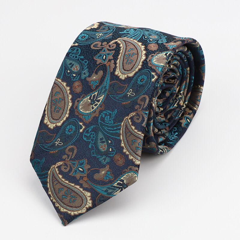 7CM paisley tie  ties for men  gravata necktie