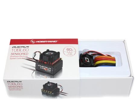 מקורי Hobbwing QUICRUN 10BL120 Sensored 120A/10BL60 Sensored Brushless ESC Speed Controller עבור 1/10 1/12 RC מיני רכב