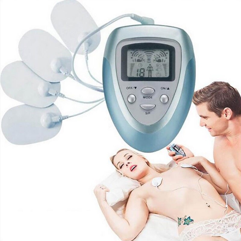 2021 New 8 Mode Electric Pain Relief Machine Portable Tens Unit Pulse Massager Muscle Stimulator Therapy Management 10 Intensity