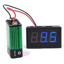 LCD 디지털 DC 4.5V ~ 30V 패널 감지기 전압계 전압계 빨간색 파란색 녹색 색 테스터 모니터 어댑터 전압계 변환기