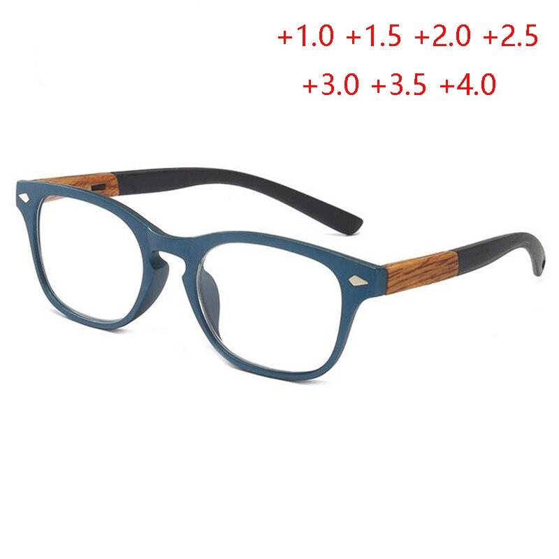 Lunettes de lecture pour hyperopie carrée   Cadre PC, lunettes confortables pour femmes âgées, loupe + 1.0 à + 4.0