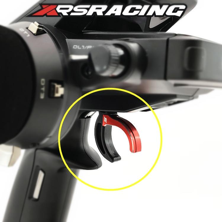 Xrsracing azul/vermelho futaba 4px 4pxr 7px arma de controle remoto atualizado alumínio gatilho do freio do acelerador controle de elevação