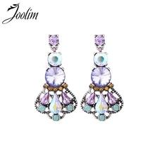 JOOLIM Mix Items Luxury Pink Green Crystal Chandelier Earring Fashion Earring Wholesale Drop Shipping Supplier
