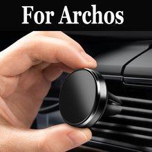 Support de support de téléphone portable à aimant de montage dévent pour Archos 55 diamant Selfie 50 Cobalt 50 platine 2 Plus 50f néon 55b 50 55 Graphite