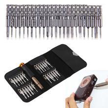 25 in 1 Schraubendreher Werkzeuge Set Mechanische Reparatur Tool Kit Kleine Werkzeug Tasche für Elektronik PC Präzision Schraubendreher-tasche Wallet set