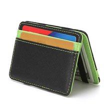 Creative PU cuir unisexe hommes affaires porte-carte de crédit minimaliste voyage portefeuille porte-cartes croix carte didentité sac Mini portefeuille