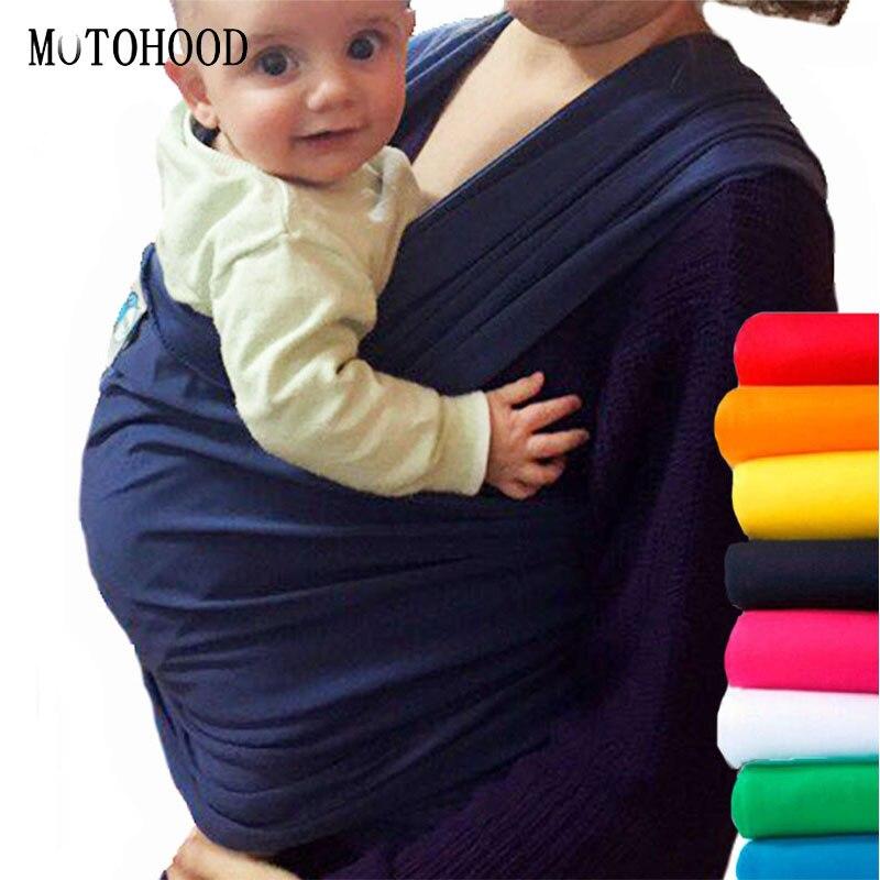 MOTOHOOD-حاملة أطفال مريحة بحلقة قابلة للتمدد ، حقيبة ظهر للأطفال بحلقة قابلة للتمدد ، مصنوعة من القطن العضوي ، 360