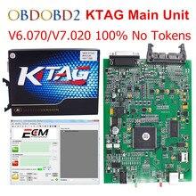 Hauptgerät KTAG V2.13 K TAG FW V6.070 V7.020 ECU Programming Tool K-TAG 7,020 Master Version Kein Tokens Begrenzte Freies schiff