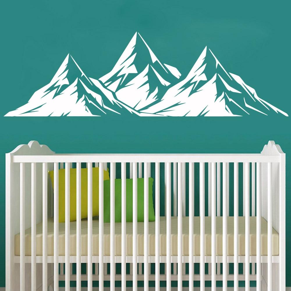 Bonito paisaje de montaña de vinilo, papel tapiz autoadhesivo para decoración del hogar, sala de estar, dormitorio, adhesivo Mural