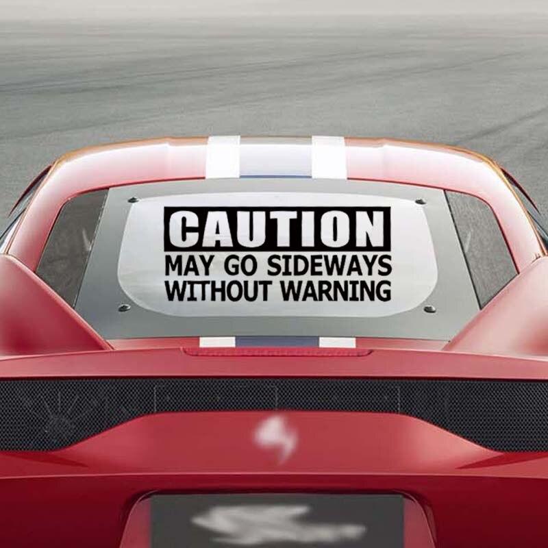 Gran oferta, por precaución, puede ir de costado sin pegatina de advertencia, estilo divertido para coche, adhesivos gráficos de vinilo para ventana de coche Jdm Drift, Jdm