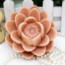 Lotus Handgemaakte Zeep Schimmel Kaars Siliconen Mal bloem Zeep Mallen Lotus Zeep maken Mallen aroma steen Mal hars klei Chocolade