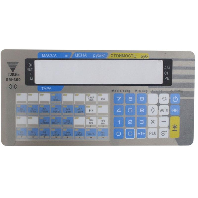 Película de teclado para impresora de Escala electrónica de etiquetas térmicas DIGI SM300 con ventana
