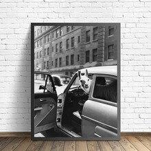 Affiche de Llama à la mode   Toile danimal Pop, toile, affiches noires et blanches et imprimés, image artistique murale nordique, pour décor de salon