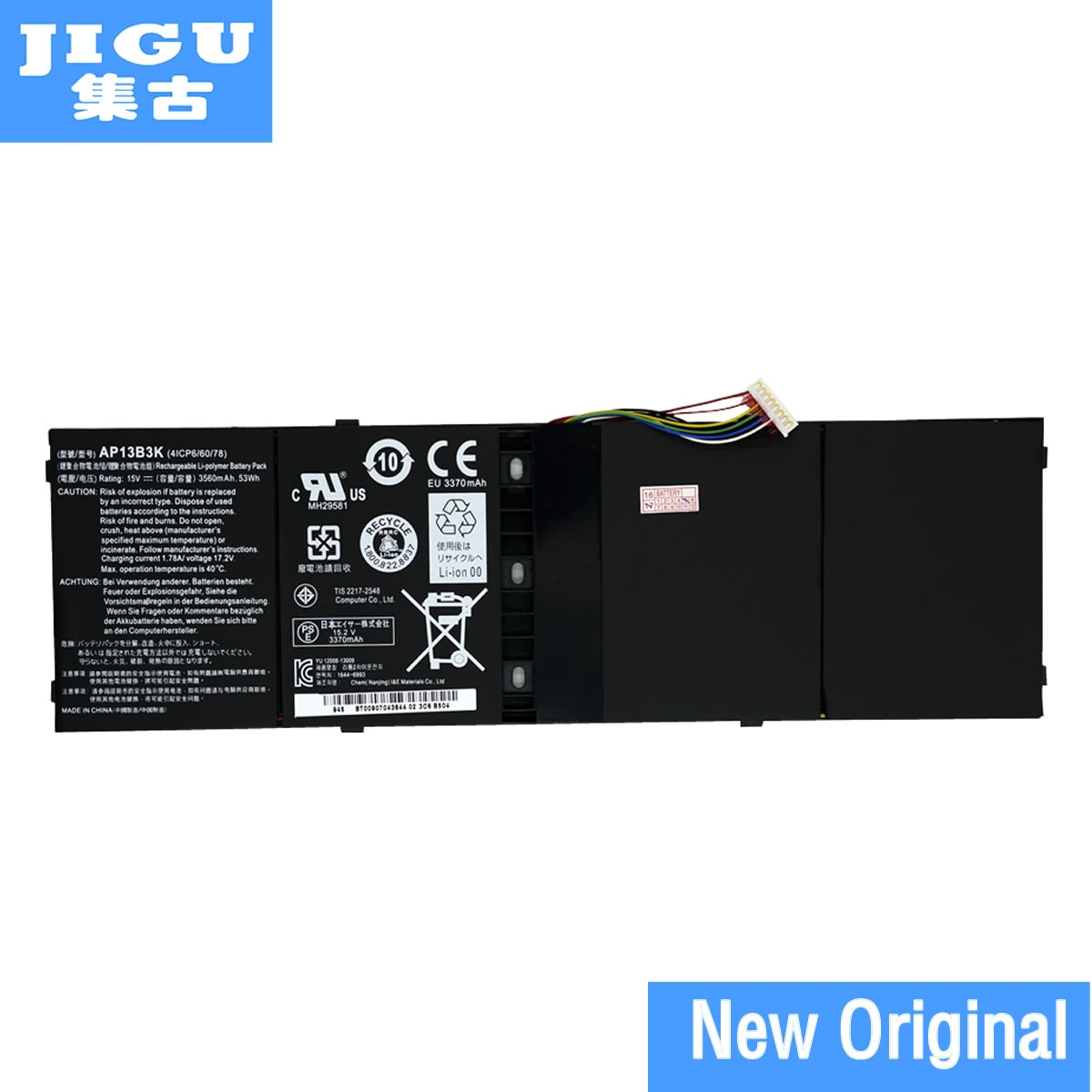 JIGU, batería para ordenador portátil, 4ICP6/60/78 AP13B3K para Acer Aspire R7 R7-571 R7-572 V5-572P V5-573 V7-482P V5-573
