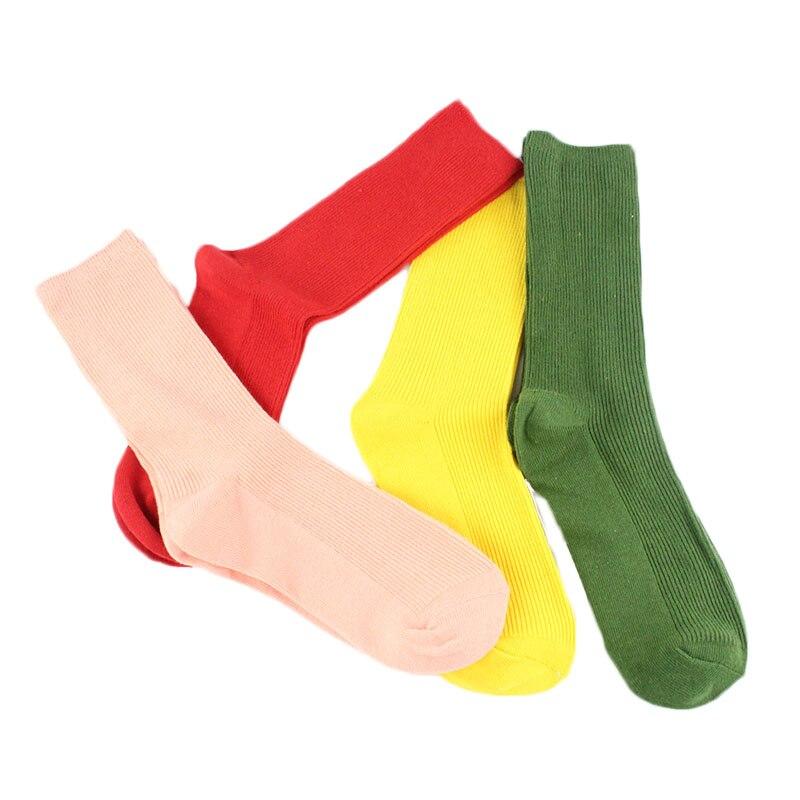 Korean Fashion Harajuku Cute Funny Colorful Heap Heap Socks Women Warm Art Red Green Yellow Creative Calcetines Mujer Sox Sokken