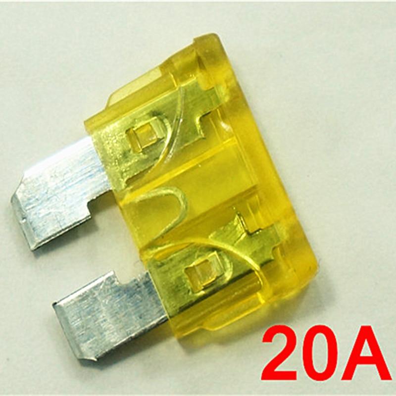 (100 unids/lote) 20 A/32 V, fusible de hoja ATO medio para coche, 20 amperios, fusible para automóvil.