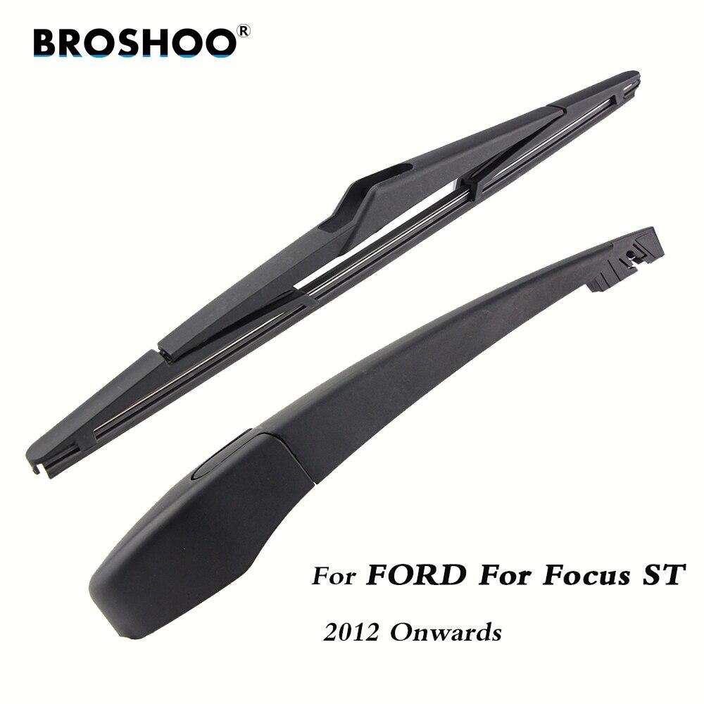 Escobilla de limpiaparabrisas trasero de coche BROSHOO, limpiaparabrisas trasero, brazo para Ford, para Focus ST Hatchback (2012 en adelante), 310mm, estilismo automático
