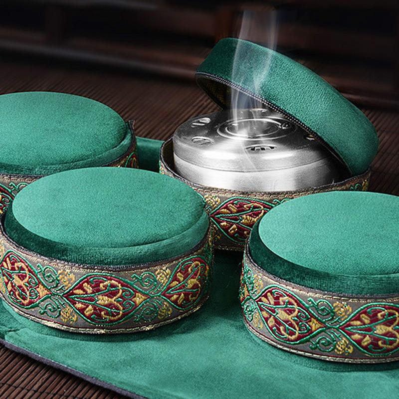 Поделиться Хо зеленый бархатный мешок для бездымного прижигания коробка китайские палочки мокса горелка иглоукалывание меридиан Отоплени...
