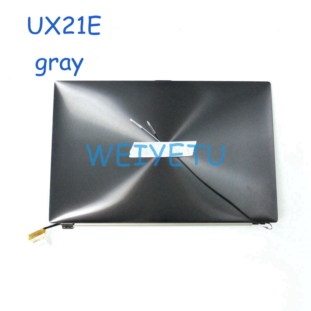 Для Asus UX21 UX21E ноутбук ЖК-дисплей дигитайзер дисплей экран с рамкой 11,6 дюймов 1366*768 металл золы/золото 100% Протестировано хорошая работа