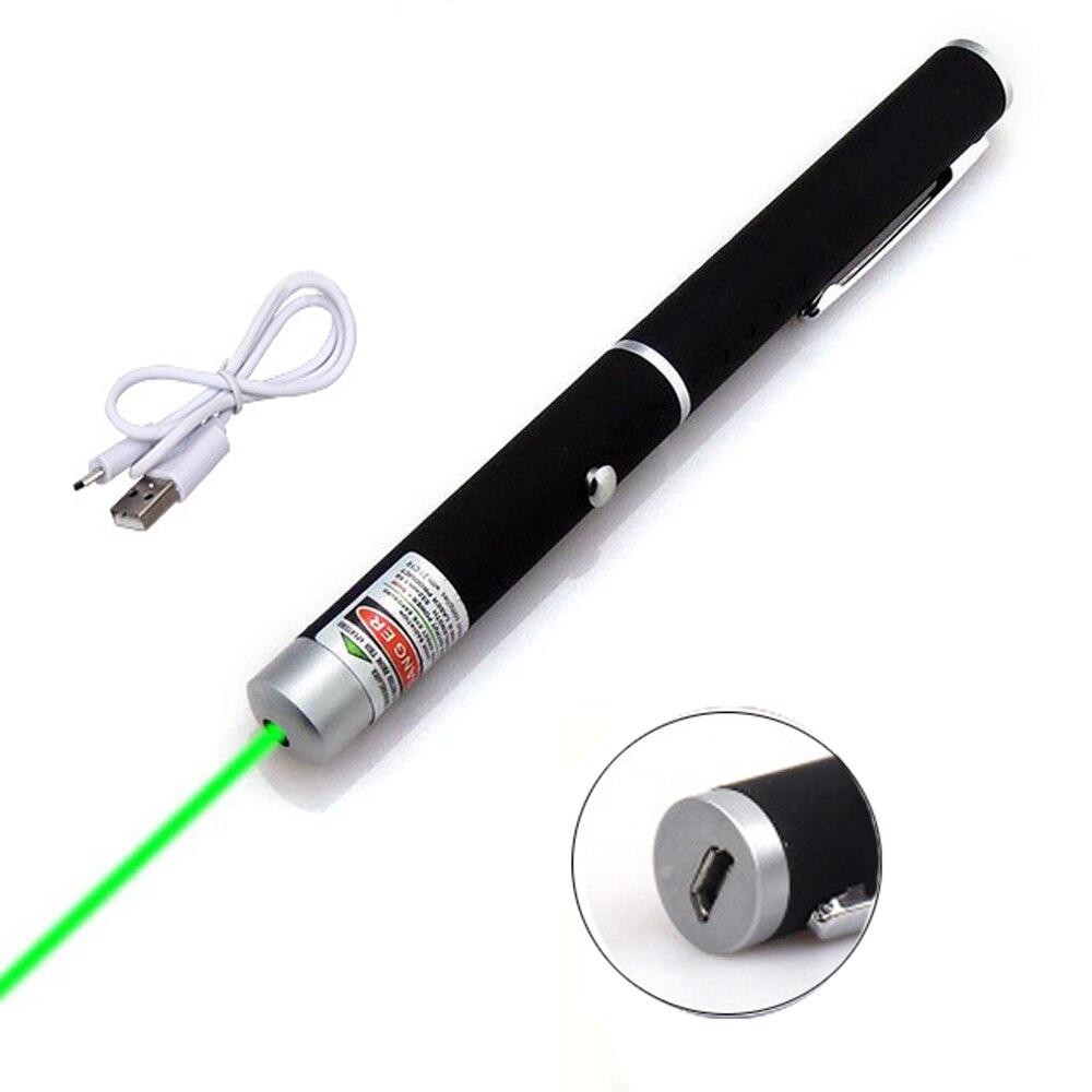 Высокая мощность USB Зеленая красная лазерная указка 201 5MW 532nm непрерывная линия 500 до 1000 метров Лазерный диапазон