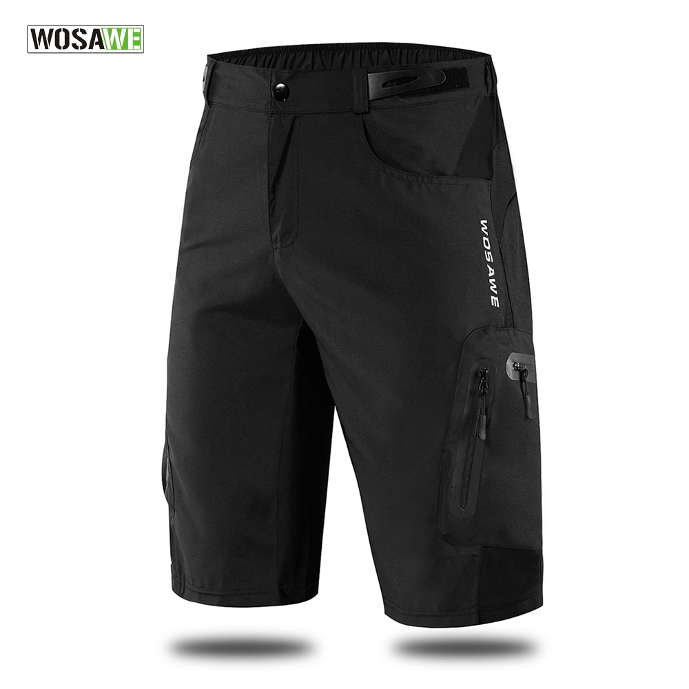 WOSAWE Men's MTB Shorts Outdoor Motocross Bike Short Pant Breathable Loose Fit For Running Bicycle C