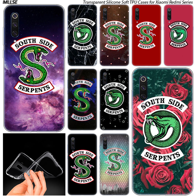 Riverdale South Side Serpents Logo Soft Case for Xiaomi Pocophone F1 Mi 5X A1 6X A2 8 SE Lite Play Mix3 9 9SE 9T Pro CC9
